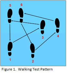 walking test pattern for esd tests