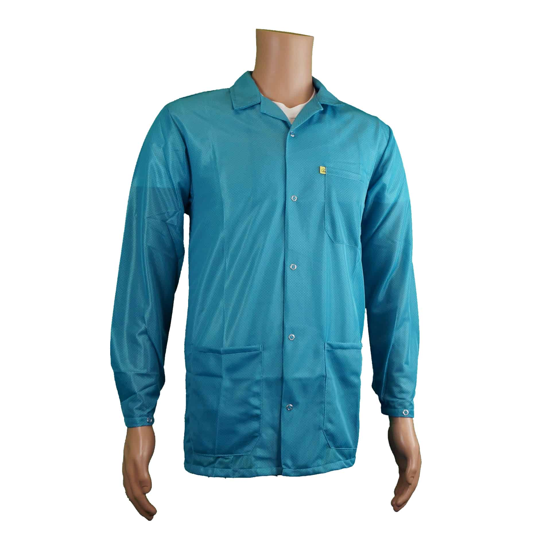 9010-esd-jacket-collar-snap-cuff-model-teal
