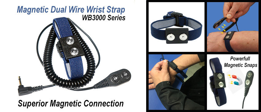 WB3000 Magnetic Wrist Strap Sets
