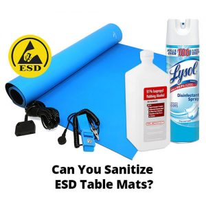 Sanitize ESD Table Mats